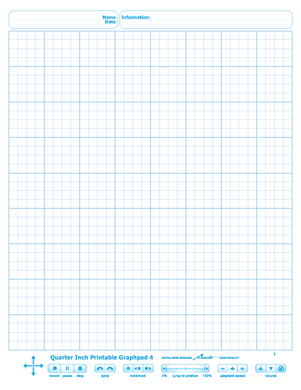 Quarter Inch Printable Graphpad 4