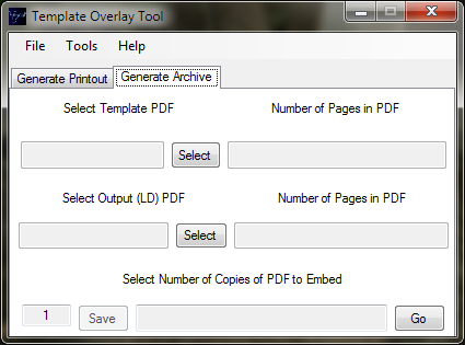 Generate Archive Tab